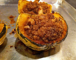 'Sweet Dumpling' squash stuffed with quinoa