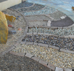 rock mulch display