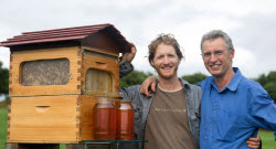 Flow Hive 3 father and son