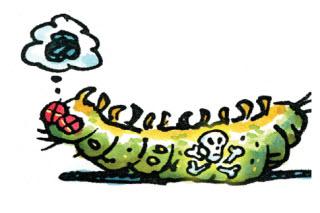 cartoon dead bug